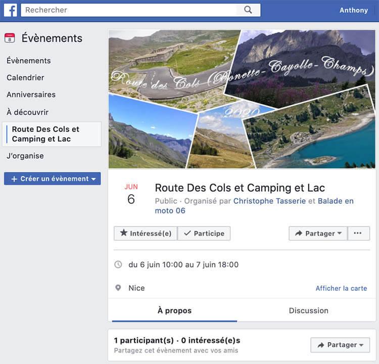 trouver balade moto facebook